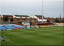 SP7761 : The County Ground before the start of play by John Sutton