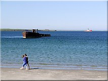 HY4708 : Wreck, Inganess Bay by Andrew Curtis