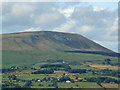 SD8041 : Pendle with numbers by Chris Tomlinson