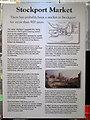 SJ8990 : Stockport Market information board by Robin Stott