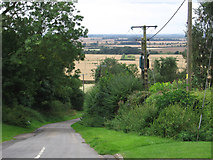 SK9859 : Boothby Graffoe - view down Castle Lane by Dave Bevis