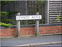 TM3876 : Kennedy Avenue sign by Adrian Cable