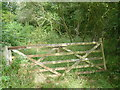 TL2080 : Old gate leading into West Wood by Marathon