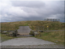 SD9620 : Footbridge and ford at Light Hazzles Reservoir by John Slater