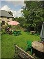 SX6789 : Beer garden, Northmore Arms, Wonson by Derek Harper