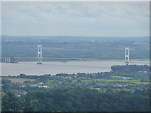 ST5590 : The old Severn Bridge from the Eagle's Nest on the Wyndcliff by Jeremy Bolwell