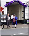 SO9445 : Pershore Plum Fayre Day 2012 (2) -  Town Crier outside the Angel Inn & Posting House by P L Chadwick