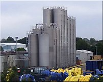TL2373 : Silos off St Peters Road, Huntingdon by JThomas