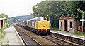 SJ3156 : Cefn-y-Bedd station in 1986, with train by Ben Brooksbank