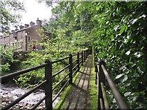 SD5345 : Footbridge across the Calder by Philip Platt