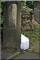SD7306 : Bench mark, Cobden Mill  by Alan Murray-Rust