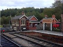 SE8191 : Levisham railway station by Andrew Abbott