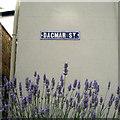 SX9372 : Old street nameplate, Dagmar Street by Robin Stott