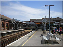 TQ0202 : Littlehampton station canopies by Richard Vince