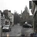 SP2865 : Smith Street and Eastgate: torrential rain by John Sutton
