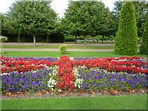 TQ2882 : Union Jack floral display in Regent's Park, London by pam fray