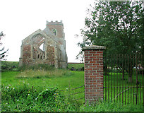 TF6013 : Ruin of St Peter's church, Wiggenhall by Evelyn Simak