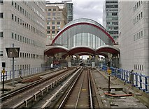 TQ3780 : Canary Wharf Station on Docklands Light Railway by Chris Morgan