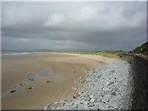 SH5729 : Harlech beach by DS Pugh