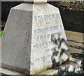 SJ9091 : Inscription on Portwood War Memorial by Gerald England