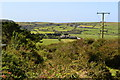 SW4937 : View down footpath near Cripplesease by David Martin