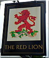 SO4138 : Red Lion pub sign, Madley by Jaggery