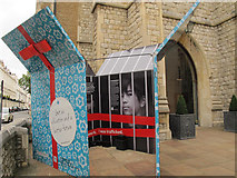 TQ2878 : Charity display outside St Michael's, Chester Square by Stephen Craven