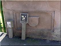 SK7954 : Bench mark, Trent Bridge, Newark  by Alan Murray-Rust