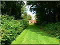SO8610 : Path to The Red House, Rococo Garden, Painswick by Brian Robert Marshall