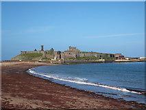 SC2484 : Peel Castle and promenade by Richard Hoare