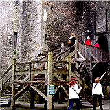R4560 : Bunratty Folk Park - Site #4 - Castle - Entrance to Castle Interior by Suzanne Mischyshyn