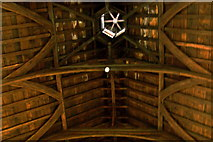 R4560 : Bunratty Folk Park - Site #4 - Castle - Roof over The Great Hall on 3rd Central Level by Suzanne Mischyshyn