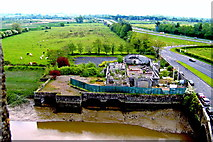 R4560 : Bunratty Castle -SE Tower View -Owenogarney River, Derelict Building, N18 @ E20 by Suzanne Mischyshyn