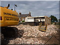 NT6578 : Rural East Lothian : The Demolition Man at Beltonford Maltings by Richard West