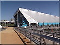 TQ3784 : Bridge to the Water Polo Arena, Olympic Park E15 by Robin Sones