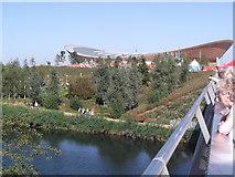 TQ3785 : Velodrome from bridge, Olympic Park E15 by Robin Sones