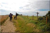 TQ3112 : The South Downs Way - Keymer Post by Trevor Harris