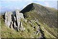 SH6963 : Rocks on Bwlch Eryl Farchog by Philip Halling