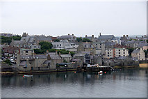 HU4741 : South end of Commercial Street, Lerwick, from the sea by Mike Pennington