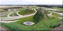 NZ2377 : Northumberlandia open day (panorama) by Andrew Curtis