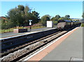 SO4383 : Freightliner train heads north away from Craven Arms station by Jaggery