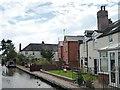SO9466 : Canalside back gardens, off Shaw Lane by Christine Johnstone