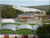 TQ4109 : Lewes Football Club ground from the Mound by Marathon