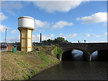 ST1875 : Great Western water tower at Cardiff Central by Gareth James