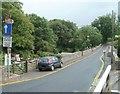 SO0727 : A view south across Lock Road Bridge, Cefn Brynich by Jaggery