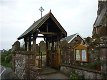 SD0799 : The Lychgate at St Peter's, Drigg by Ian S