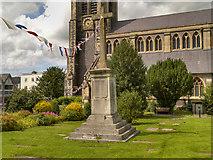 TQ1649 : St Martin's Churchyard, War Memorial by David Dixon
