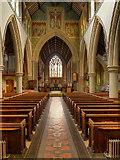 TQ1649 : St Martin's Church, Dorking, Nave and Chancel Arch by David Dixon