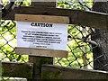 SJ9395 : Cautionary Notice by Gerald England