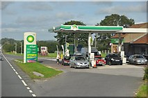 ST4718 : South Somerset : The A303 & BP Petrol Station by Lewis Clarke